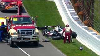 Mike Conway Will Power BIG Crash 2012 Indy 500