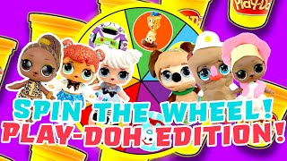 LOL Surprise Dolls Toy Story 4 Spin the Wheel Play-Doh Game! With Curious QT | LOL Dolls Families
