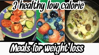 3 HEALTHY LOW CALORIE MEALS FOR WEIGHT LOSS | Low-Carb diet, Meal prep for quick weight loss