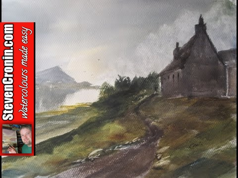Loch Hope Watercolour Painting Demonstration