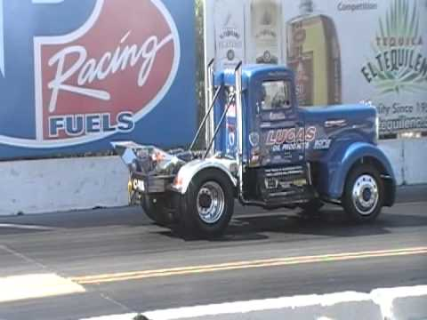 Detroit Diesel Powered Drag Racing Kenworth At Irwindale