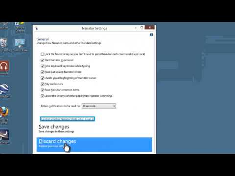 Windows 8 Pro Tutorial 17 - Narrator Text To Speech Screen Reader - Assistive Tech 8 - TTS