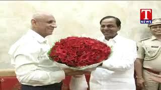 CM KCR Meet Governor at Raj Bhavan | Hyderabad | T News Telugu