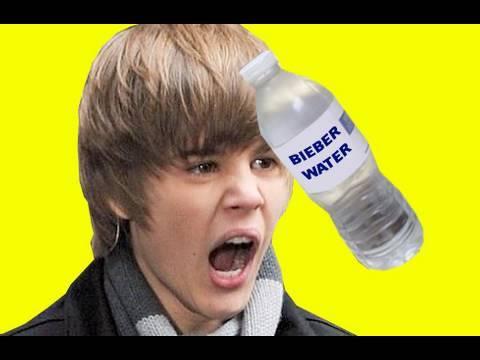 Justin Bieber Hit By Water Bottle AUTOTUNE REMIX