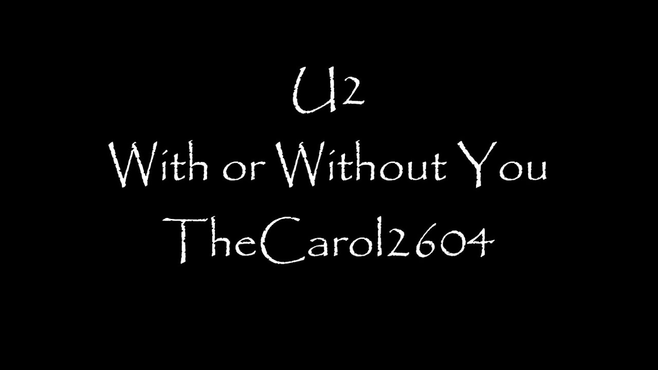 without u2 lyrics: