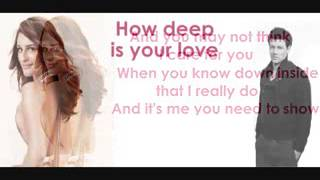 Baixar - Glee How Deep Is Your Love Lyrics Grátis