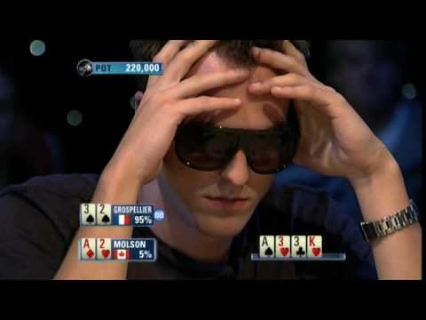 Bertrand Grospellier ElkY - PCA High Roller 2009 - ElkY vs Molson - PokerStars.com Video