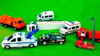 لعبة السيارات: سيارة إطفاء والإسعاف وسيارة للشرطة، النقل، سيارة البريد، سيارة السباق .