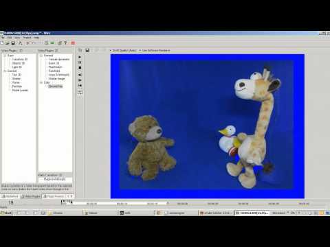 Blue Screen Post Processing - Part 2/3: Chroma Key Layer from the raw blue screen footage