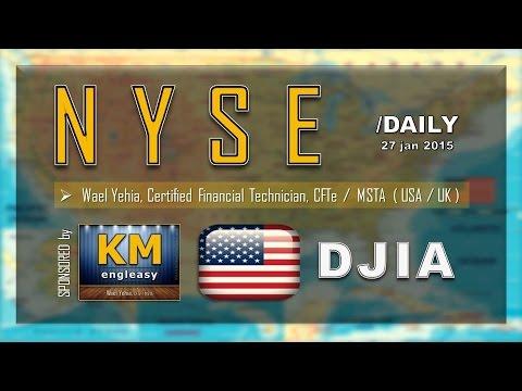 STOCK Market | NYSE | DJIA | Daily ( 27 Jan 2015 )