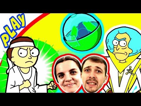 БолтушкА и ПРоХоДиМеЦ Пришли в СОВЕТ РИКОВ Показать своих МОРТИ! #183 Игра для Детей - Pocket Mortys