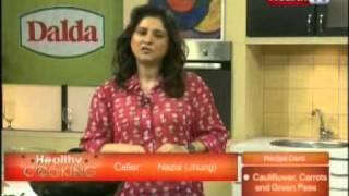 ''Healthy Cooking'' - Ep# CAULIFLOWER, CARROTS & GREEN PEAS Part-1 (21-FEB-2012) Health TV