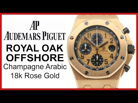 Audemars Piguet Royal Oak Offshore Rose Gold. Champagne UNBOXING & REVIEW - 26470OR.OO.1000OR.01