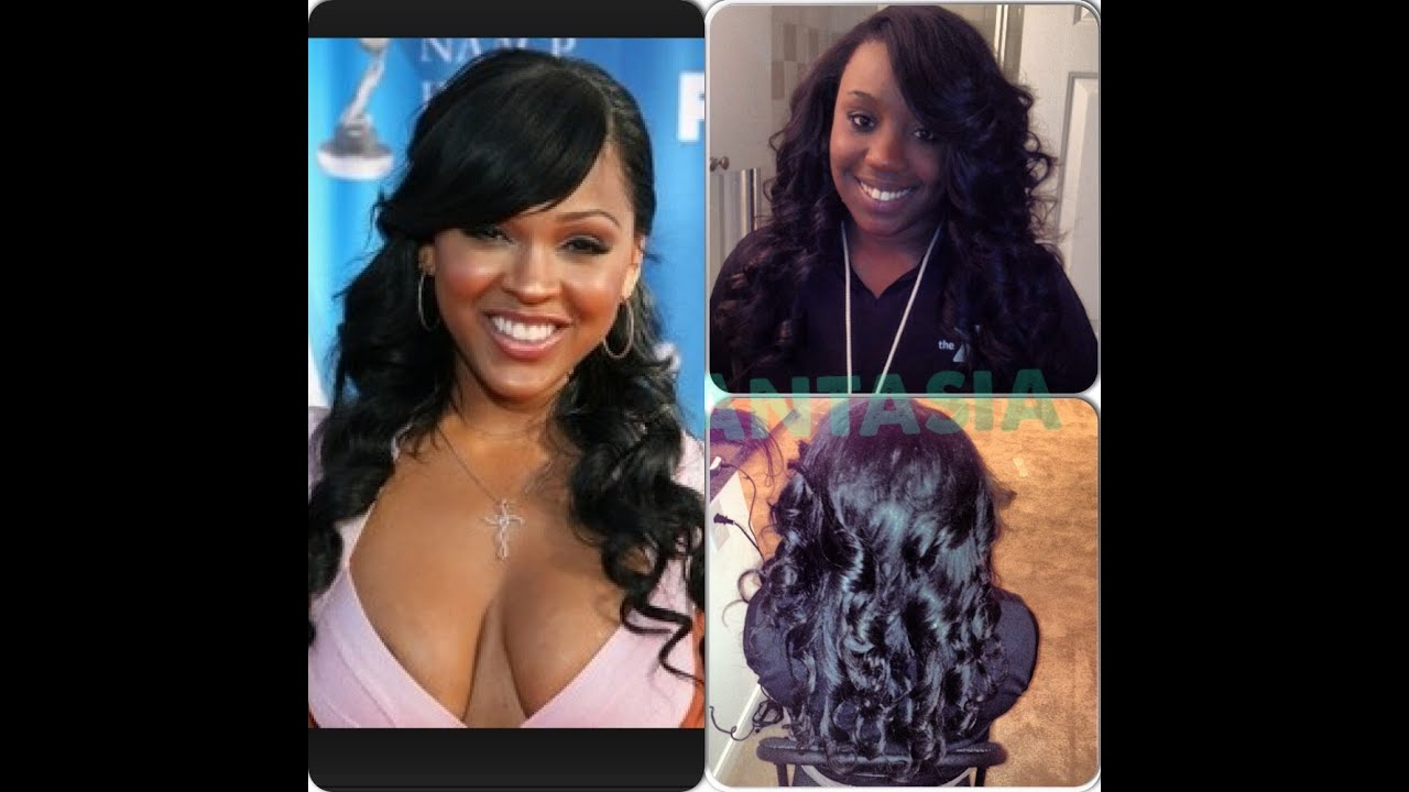 How To Do A Deep Full Swoop Bang Sew In Meagan Good