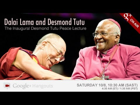 Dalai Lama & Desmond Tutu in a Google+ Hangout On Air