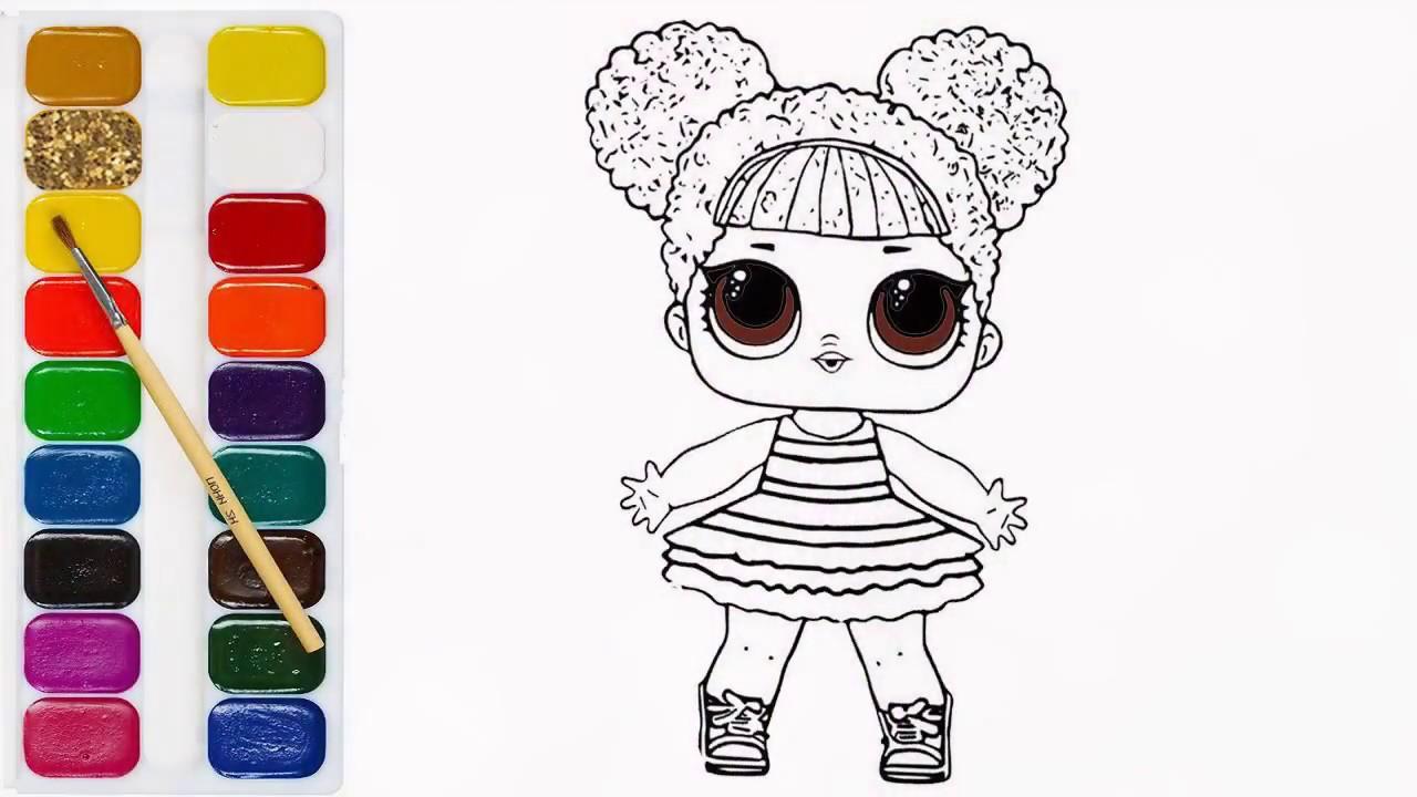 Раскраски куклы lol 165