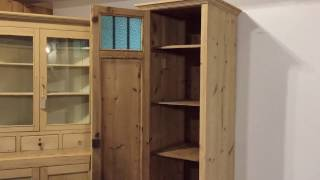 Antique Pine Tall, Skinny Cupboard - Pinefinders Old Pine Furniture Warehouse