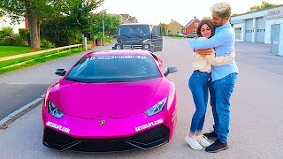 Picking up Girl from School in LAMBORGHINI !!!