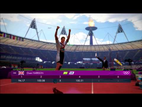 London 2012 Olympics Video Game World Record Javelin