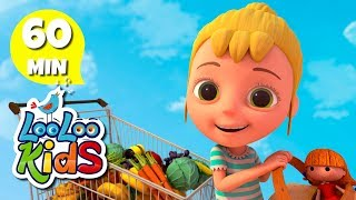 Going to the Market 🛒 Educational Songs for Children   LooLoo Kids