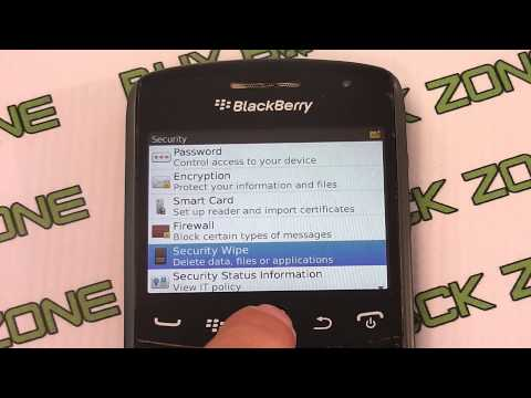 How to restore the factory settings on a Blackberry Curve 9370