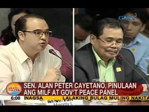 UB: Sen. Alan Peter Cayetano, pinulaan ang MILF at gov't peace panel