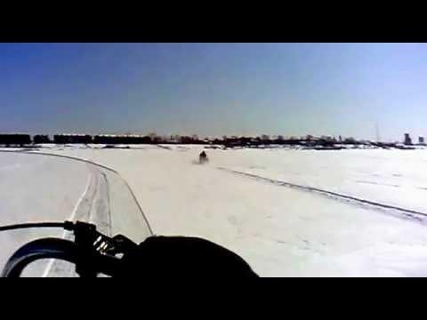 Самодельный снегоход из ока 54