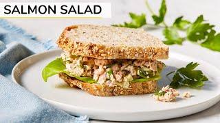 BEST SALMON SALAD | canned salmon recipe