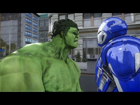 HULK VS IRON MAN (MARK XXX BLUE STEEL) - EPIC BATTLE