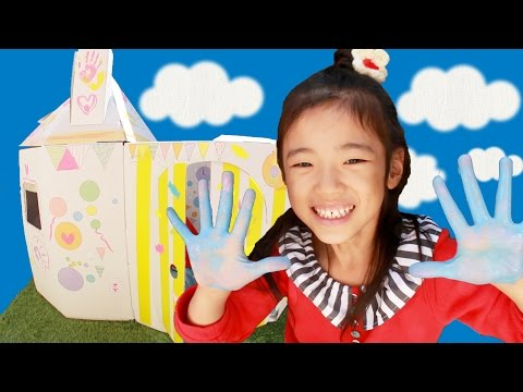 Kan & Aki & Asahi ダンボールハウスを作ったよ ♪
