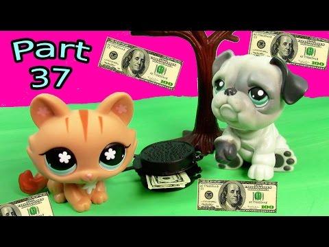 LPS Money $$$ Mommies Part 37 Littlest Pet Shop Series Movie LPS Mom Babies Bulldog