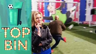 Top Bins | Rachel Riley shows off her football knowledge. Louis Saha and Leon McKenzie shoot