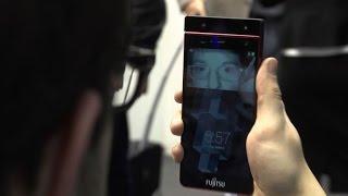 Up close with Fujitsu's iris-scanning phone concept