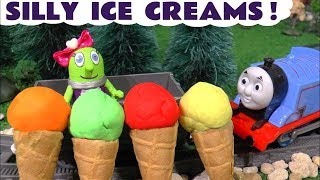 Learn Colors in Silly Ice Cream Flavors with the Funny Funlings and Cars 3 McQueen