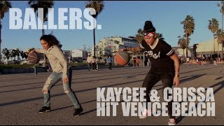 Big Brother's Kaycee Clark and Harlem Globetrotters' Crissa Jackson - Basketball Challenge.