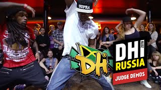 DHI RUSSIA 2016 -  JUDGE DEMO (BEGINNERS BATTLE) - LIL'JAZZ, KATRIN WOW, DHK CLAUDIO