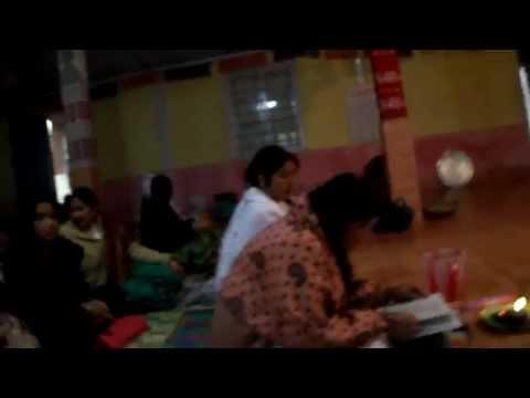 Assamese Womans Praying Bhakti Kriton(Song) a God.. at Tawang...