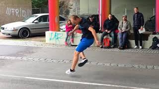 Juho Marjo - Footbag Battle Run at Party Bombe