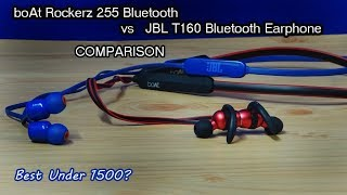 Boat Rockerz 255 BT VS JBL T160 Bluetooth Earphone Comparison