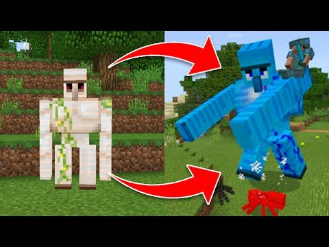 How to UPGRADE an IRON GOLEM in Minecraft (Pocket Edition, Xbox Addon)