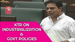 Minister KTR Speech On Industrialization And TRS Govt Policies | Telangana Assembly