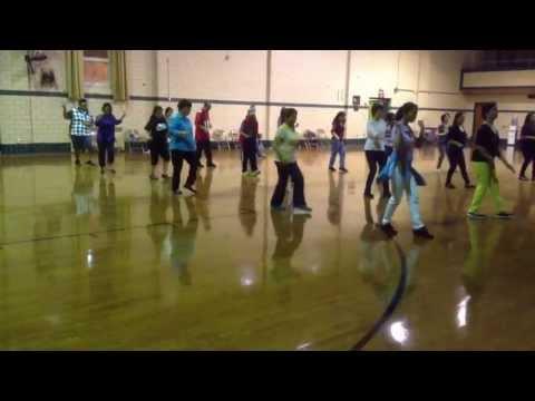 media line dance blurred line