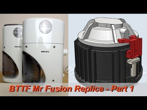 XRobots - BTTF Mr Fusion Build PART 1, Using Krups 223A Coffee Grinder, 3D printed base