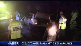 �zel otomobil takla att� 2 ki�i yaraland� ! (V�DEO)