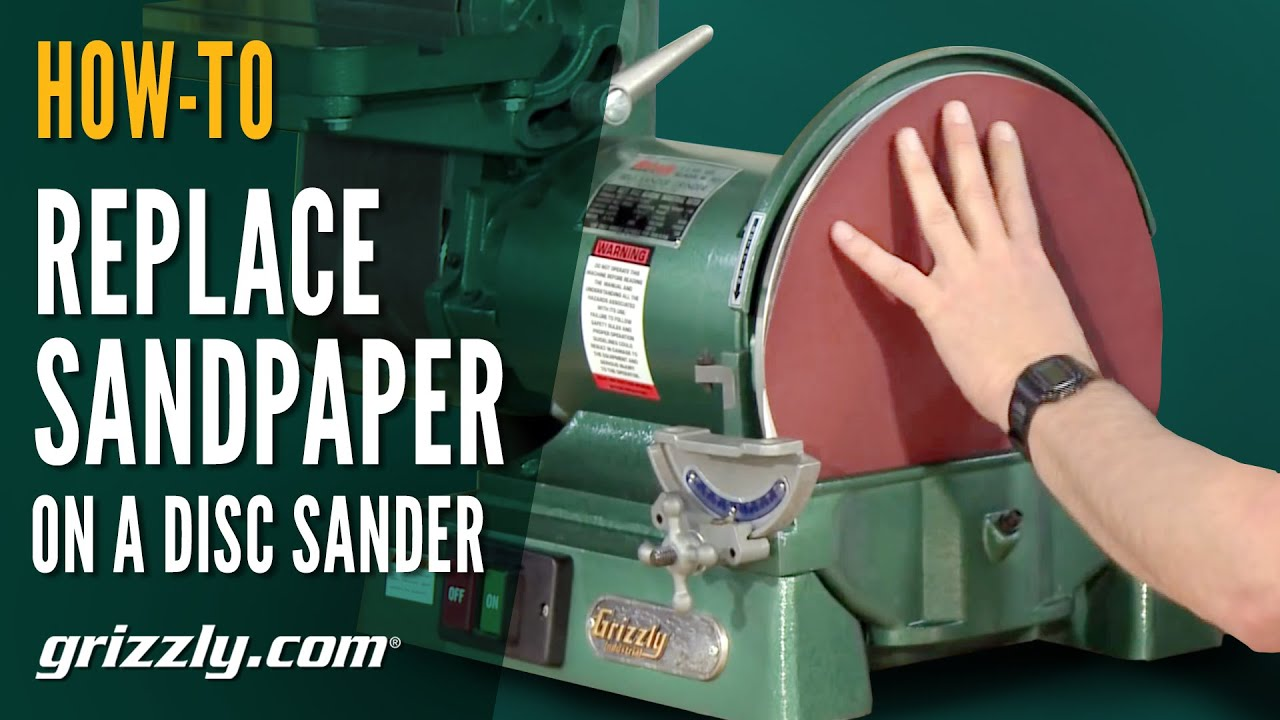 How To Replace Sandpaper On A Disc Sander Youtube