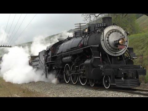 Гигантские поезда и паровозы. Развивающий мультик для малышей.