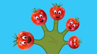 The Finger Family Tomato Family Nursery Rhyme | Tomato Finger Family Songs