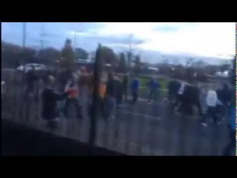Fight between Manchester Utd vs. Manchester City 02.11.2014