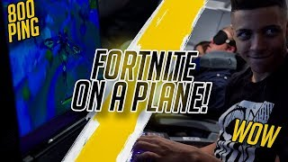 I PLAYED FORTNITE ON A PLANE! - VLOG #007