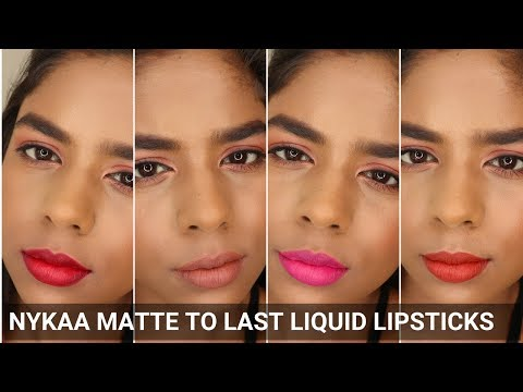 Nykaa Matte to Last Liquid Lipsticks Swatches | All Shades | Indian/Tan/Dusky/Brown Skin Tone